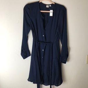 NWT GAP navy blouse dress size M